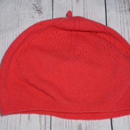 Frugi coral winter hat 3-6 years small
