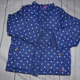 Boden blue spotty coat 4-5 years