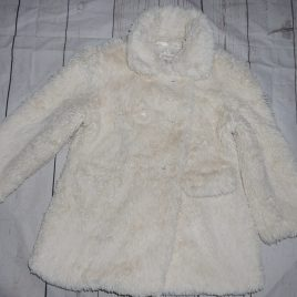 M&S Autograph Cream fluffy coat 2-3 years