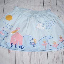 Blue seaside skirt 4-5 years
