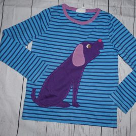 Boden stripy dog top 4-5 years
