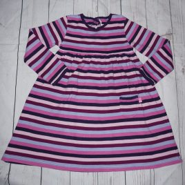 Jojo Maman Bebe pink & purple stripy dress 4-5 years