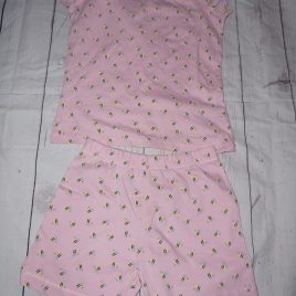 Mothercare pink bee summer pyjamas 4-5 years