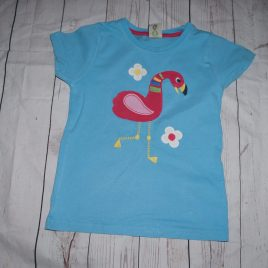 Frugi organic cotton flamingo t-shirt 4-5 years