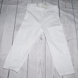 H&M 3/4 white leggings 4-5 years