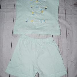Mothercare mint green summer pyjamas 4-5 years