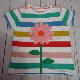 Boden flower stripy t-shirt 4-5 years