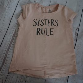 "H&M ""Sisters Rule"" t-shirt 4-6 years"