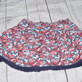 Mothercare navy flowers skirt 18-24 months
