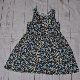 H&M navy flowers dress 4-6 years