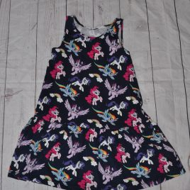 H&M navy My little Pony dress 4-6 years