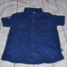 Navy short sleeved shirt 18-24 months