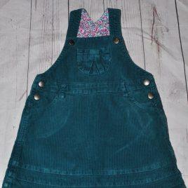 Jojo Maman Bebe green cord pinafore dress 18-24 months