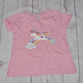 Pink unicorn t-shirt 4-6 years