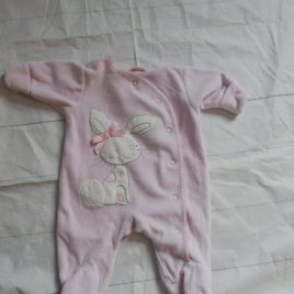 Next pink rabbit sleepsuit newborn