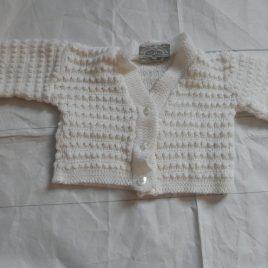 White cardigan 0-3 months