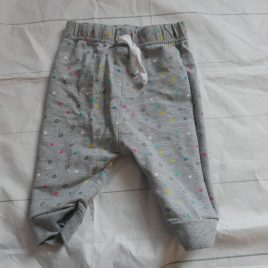 Grey star jogging trousers 3-6 months