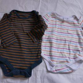 x1 short sleeve & x1 long sleeved bodysuits 3-6 months