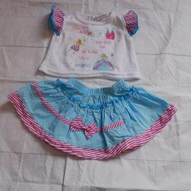 T-shirt & skirt outfit 0-3 months