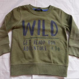 Khaki 'wild' jumper 2-3 years