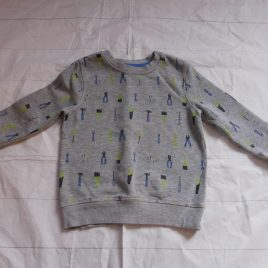 Grey DIY jumper 2-3 years