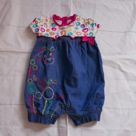 Denim style romper outfit 0-3 months