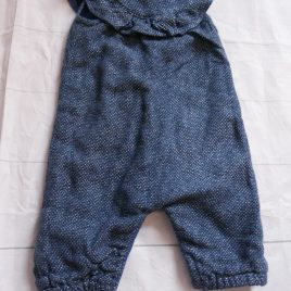 Navy spotty dungarees 0-3 months