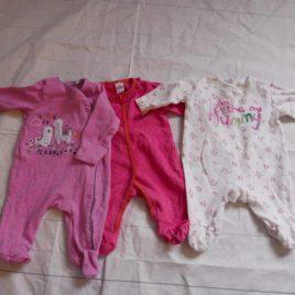 x3 newborn sleepsuits
