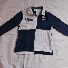 White & navy rugby top 2-3 years