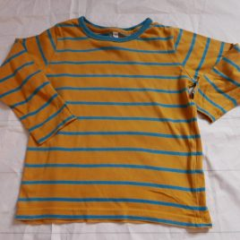 M&S yellow stripy top 2-3 years
