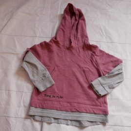 Grey & dusky pink hoodie top 2-3 years