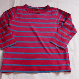 M&S Red striped top 2-3 years