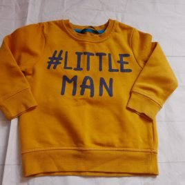 Yellow '#little man' jumper 2-3 years