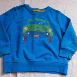 Turquoise blue car jumper 2-3 years