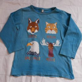 M&S blue animal top 2-3 years
