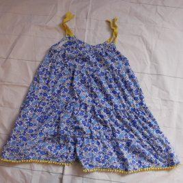 Boden blue flowers dress 4-5 years