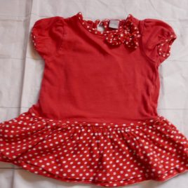 Red sporty dress 0-3 months