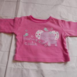 Pink elephant top 0-3 months