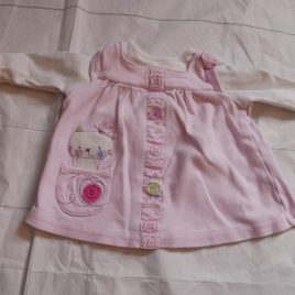 Tiny baby pink cat top