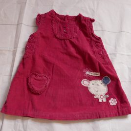 Cord dusky pink pinafore dress 3-6 months