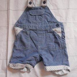 Denim style dungarees 6-9 months