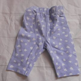 Newborn blue hearts leggings