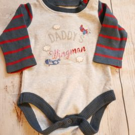 Daddy long sleeved bodysuit up to 1 month