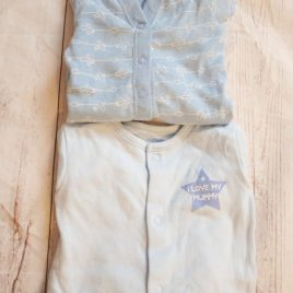 x2 sleepsuits first size
