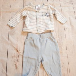 Newborn trousers & cardigan outfit
