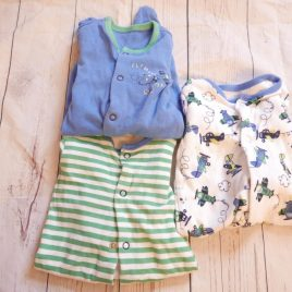 x3 sleepsuits first size