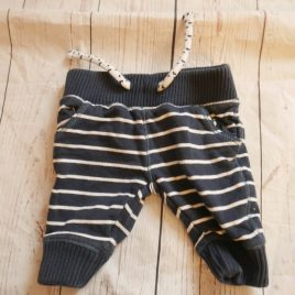 Small Baby navy stripy jogging trousers
