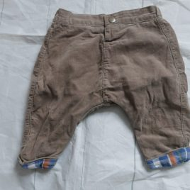 Mothercare brown cord trousers 0-3 months