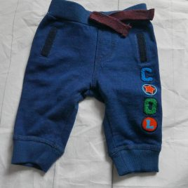 Blue 'cool' jogging trousers 0-3 months