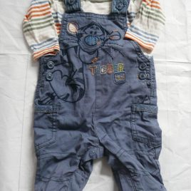 Disney Tigger dungarees & top outfit 0-3 months